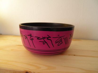 Cuenco tibetano de aluminio rosa