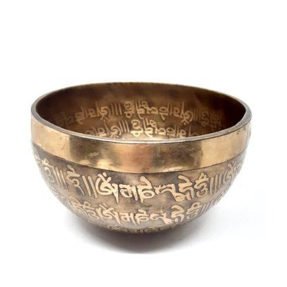 Cuenco tibetano grabado RE