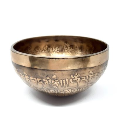 Cuenco tibetano grabado