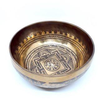 Cuenco tibetano grabado a mano
