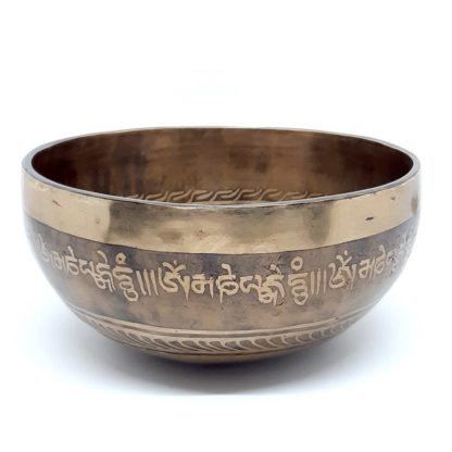 Comprar cuenco tibetano decorado para meditación