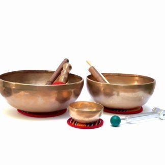 Juego de cuencos tibetanos terapéuticos para masaje