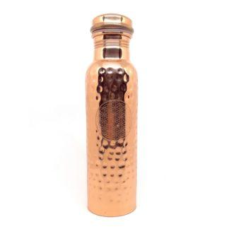 Comprar botella de cobre ayurveda con Flor de la Vida