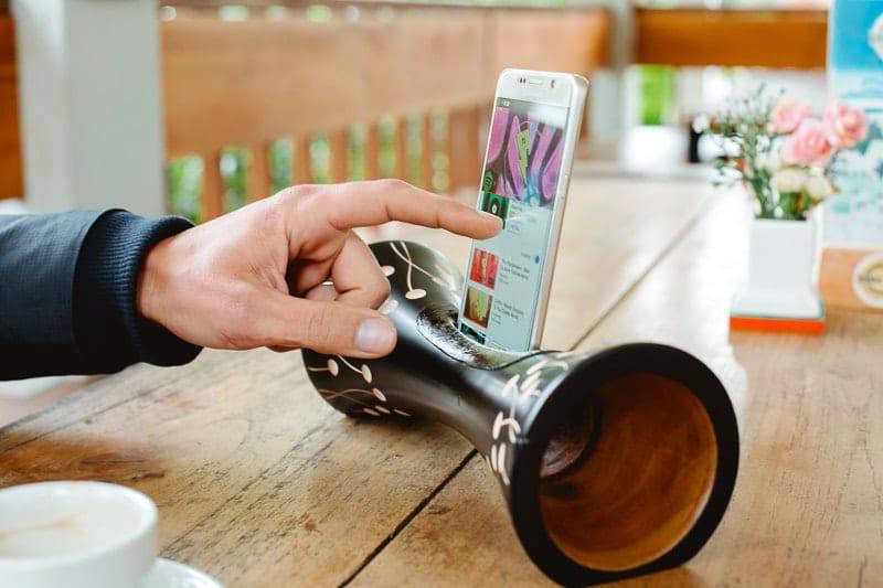 Mangobeat, altavoz ecológico para teléfonos móviles