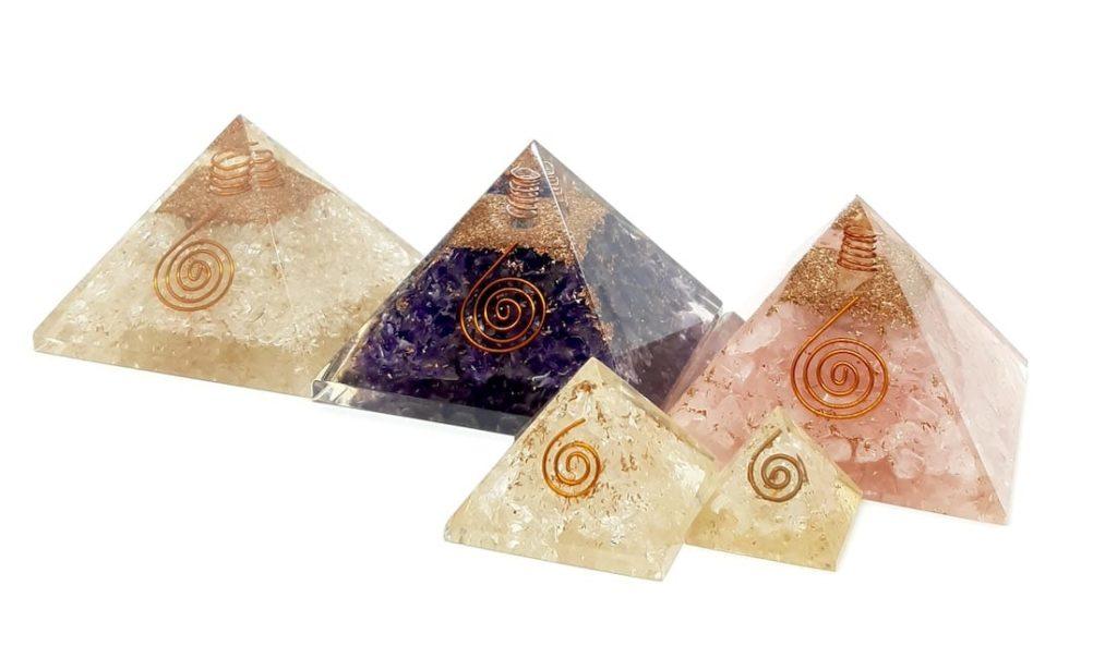 Comprar pirámides de orgonite de cuarzo